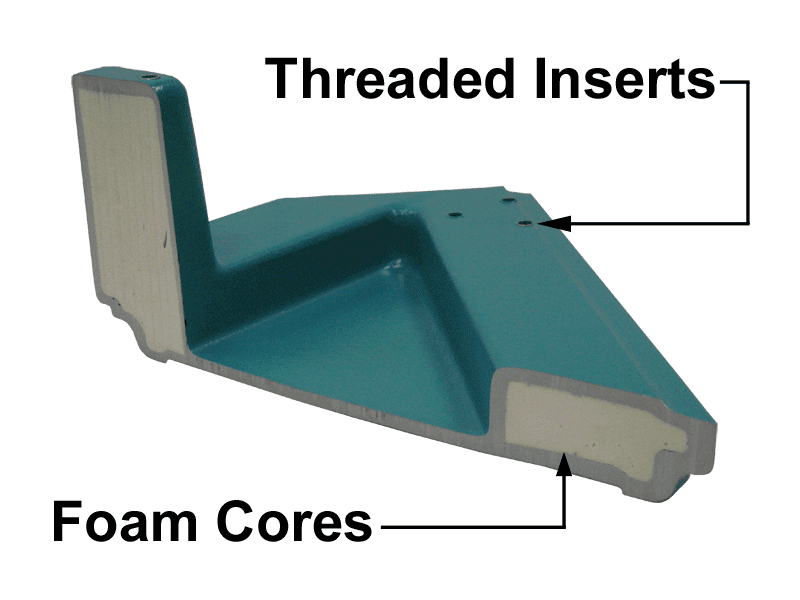 threaded inserts and foam cores | composite materials